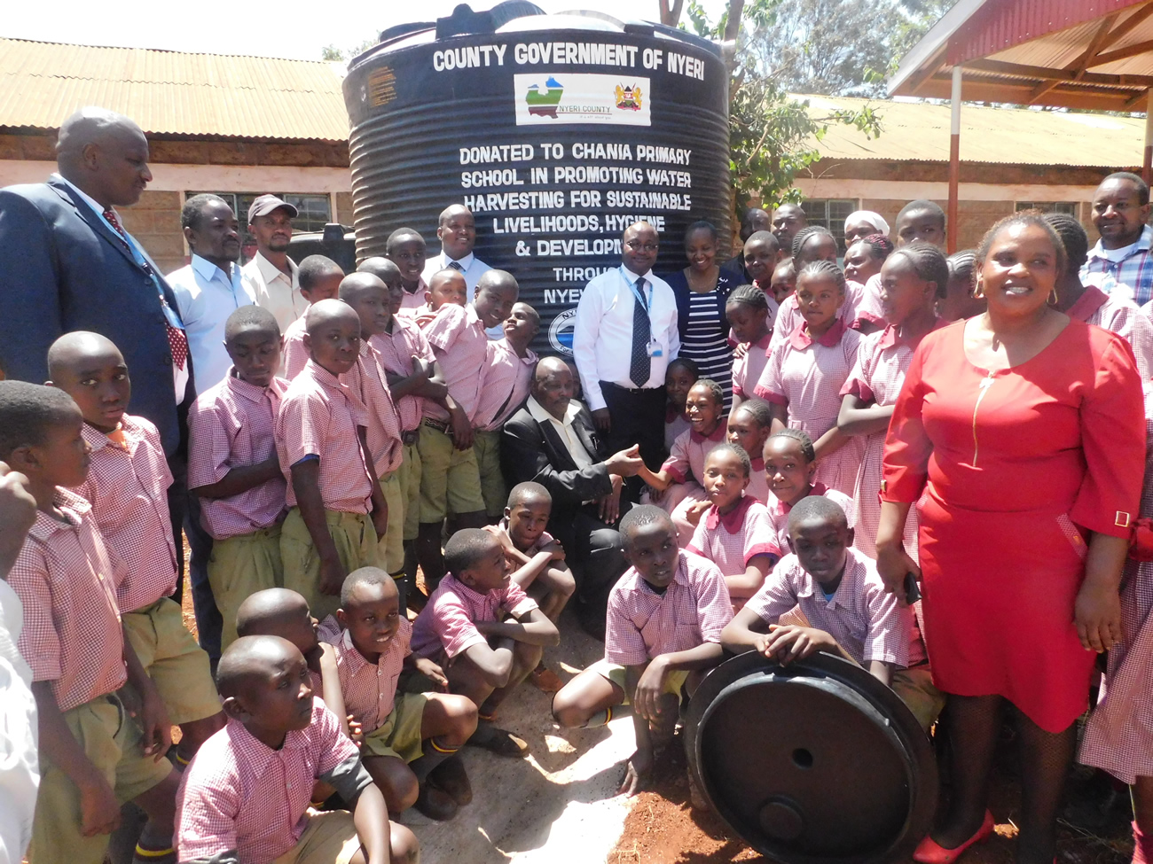 Water tank Donated to Chania Primary School to harvest rain water