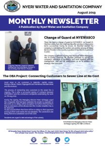 Nyewasco Monthly Newsletter August 2019 Edition