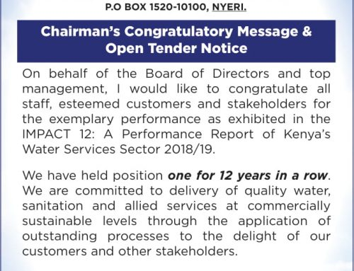 Chairman's Congratulatory Message & Open Tender Notice