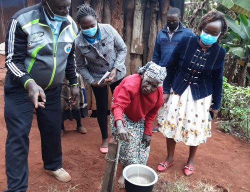 NYEWASCO comes at the rescue of a senior citizen in dire need for potable water (Pro- Poor Intervention)