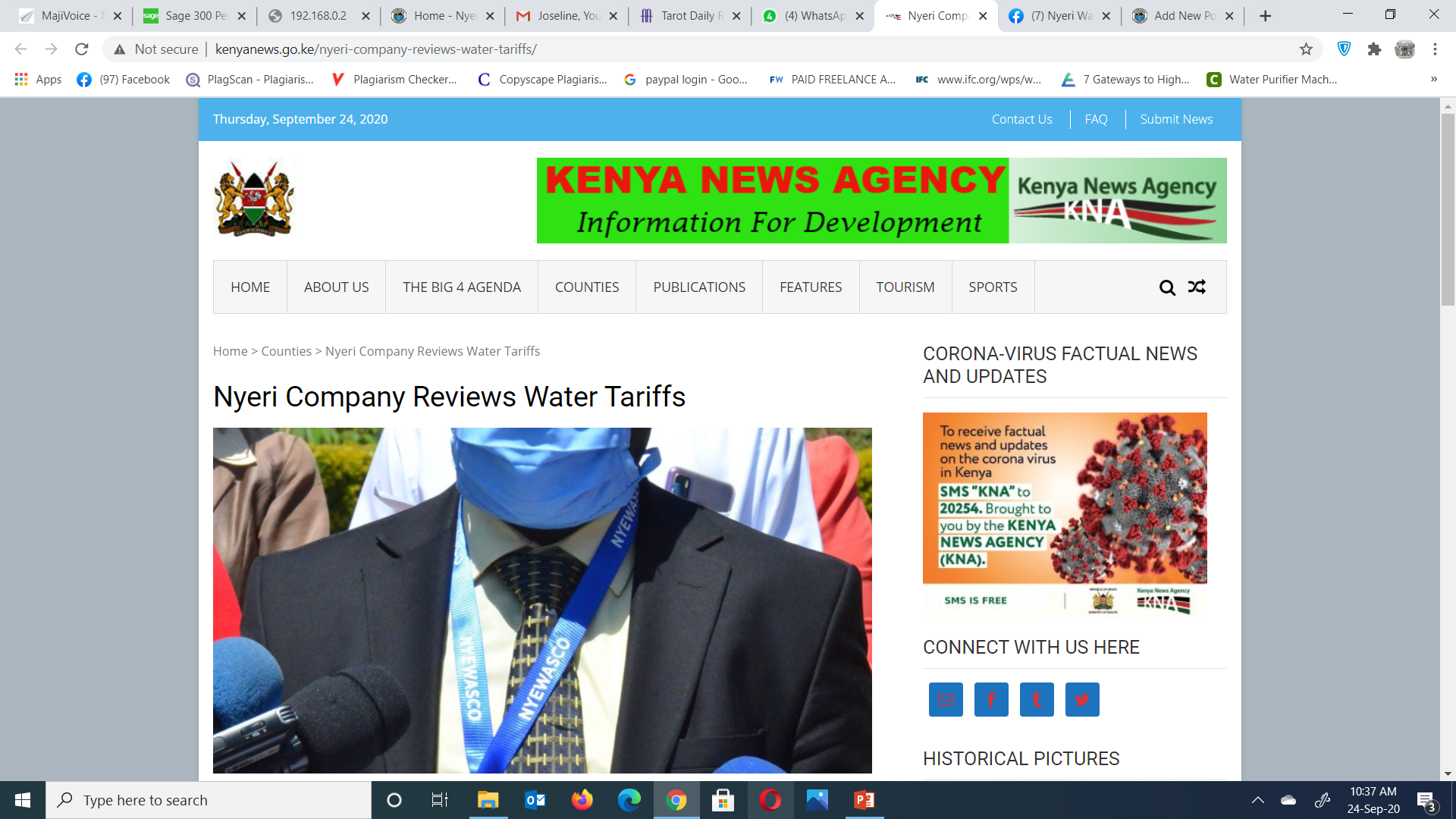 Nyeri Water and Sanitation Company Reviews Tariff