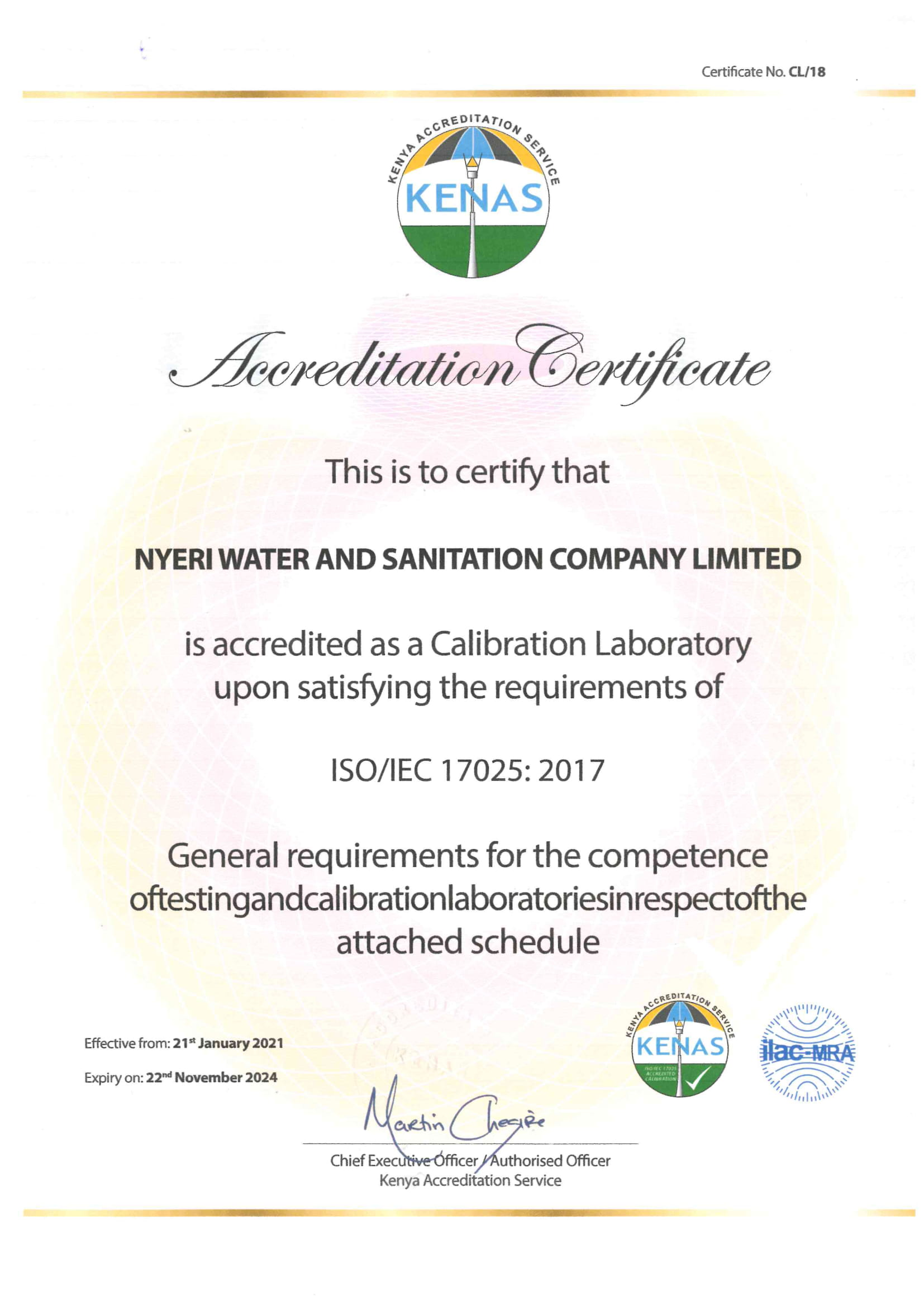 Testing and calibration laboratories ISO/IEC 17025:2017 Accreditation