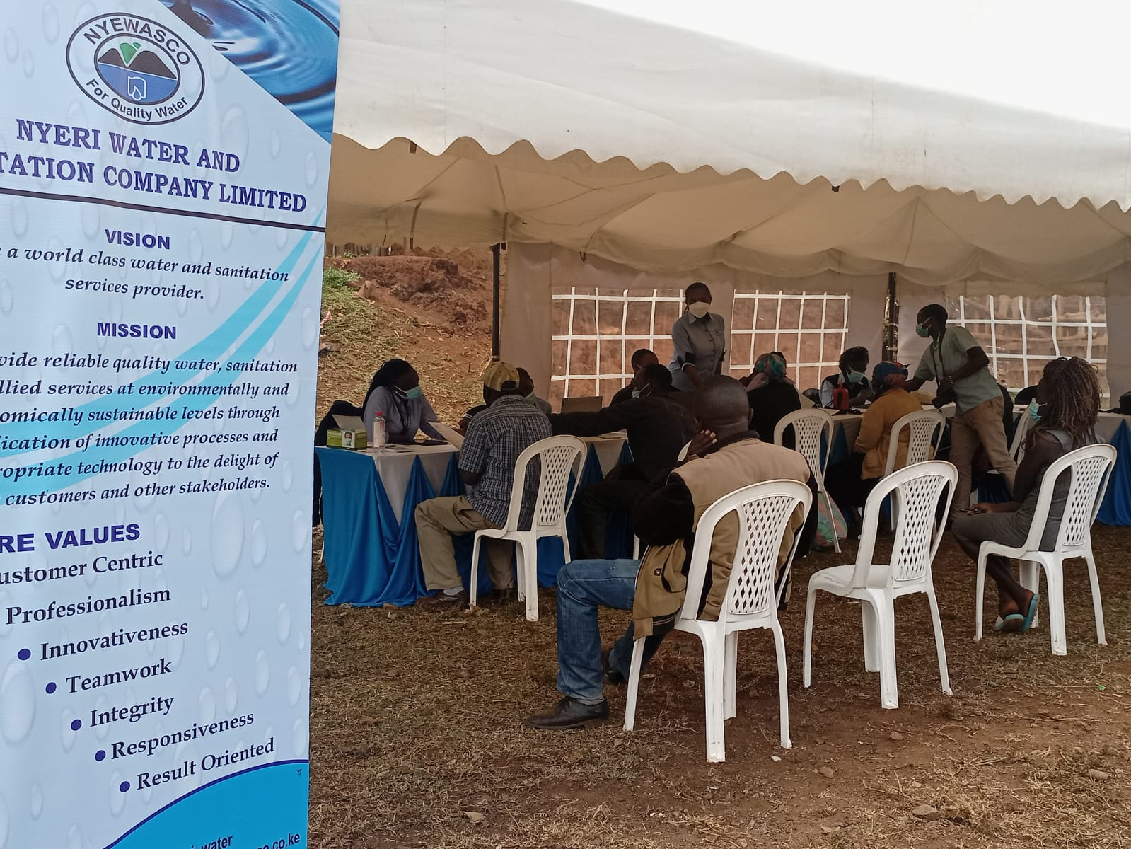 Customer Sensitization Exercise in Low Income Areas of Kiawara and Majengo